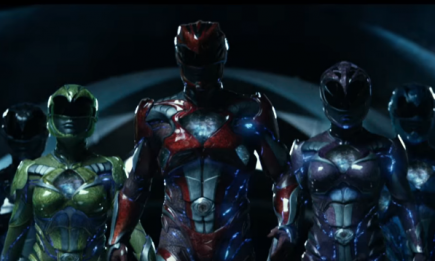 "The all-new Rangers in the ""Power Rangers"" movie, which will be shown in theaters on March 23, 2017."
