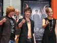 Actor Rupert Grint, actor Daniel Radcliffe and actress Emma Watson attend the Harry Potter cast 'Hand, Foot and Wand-Print' ceremony held at Grauman's Chinese Theater July 9, 2007 in Hollywood, California.