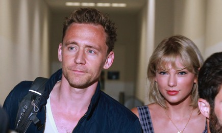 Actor Tom Hiddleston and singer Taylor Swift at Sydney International Airport in Sydney, New South Wales.