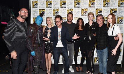 """The cast and crew from Marvel Studios """"Guardians of the Galaxy Vol. 2"""" attended the San Diego Comic-Con International 2016 Marvel Panel in Hall H on July 23 in San Diego, California."""
