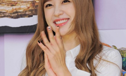 EXID member Hani during the SBS 'Law of the Jungle in Nicaragua' press conference.