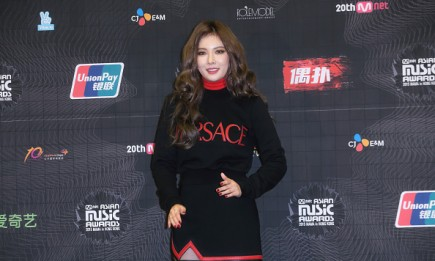 KPop star Hyuna during the 2015 Mnet Asian Music Awards (MAMA) press conference at AsiaWorld-Expo.