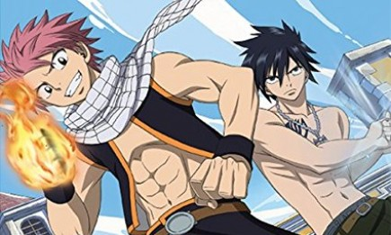 "Natsu Dragneel and Gray Fullbuster are two of the main characters in ""Fairy Tail""."