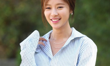 South Korean actress and singer Hwang Jung Eum poses for a photo shoot in Seoul.