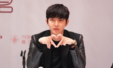 South Korean singer Lee Joon Gi during a press conference in Seoul.