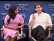 Actors Mindy Kaling and Ike Barinholtz present onstage at The Paley Center for Media's 10th Annual PaleyFest Fall TV Previews honoring Hulu's The Mindy Project at the Paley Center for Media on September 15, 2016 in Beverly Hills, California.