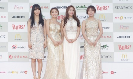 MAMAMOO arrive for the 4th Gaon Chart K-POP Awards at the Olympic Park on January 28, 2015 in Seoul, South Korea.