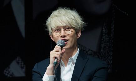 Super Junior's Heechul during the press conference for SM Entertainment's Super Junior 10th Anniversary Special Album 'Devil'.