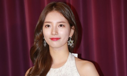 South Korean singer and actress Bae Suzy attends the unveiling ceremony for her wax figure on September 13, 2016 in Hong Kong, China.