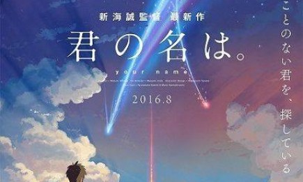 """The animated film about body swapping teenagers, """"Kimi no Na wa"""" or """"Your Name"""" has smashed box office records in Japan."""
