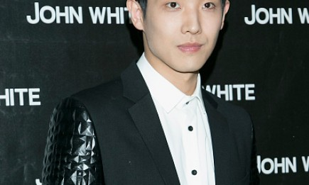 Hallyu star Lee Joon during the store opening event for 'John White' at Hyundai Department Store.