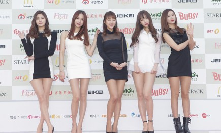 EXID members arrive at the 4th Gaon Chart K-Pop Awards.