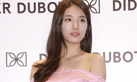 Hallyu star Suzy attends a commercial activity of Didier Dubot  in Hong Kong, China.