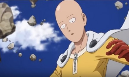 Saitama dodges a direct attack from Genos