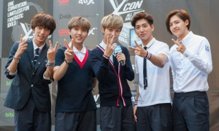 B1A4 members in attendance during the KCON 2014.