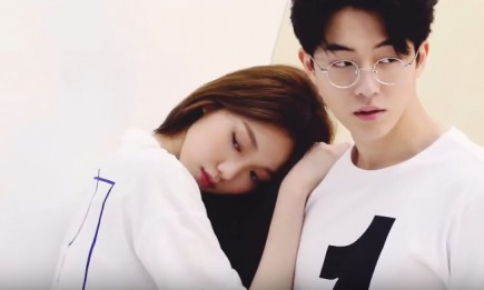 Lee Sung Kyung and Nam Joo Hyuk during a photoshoot.