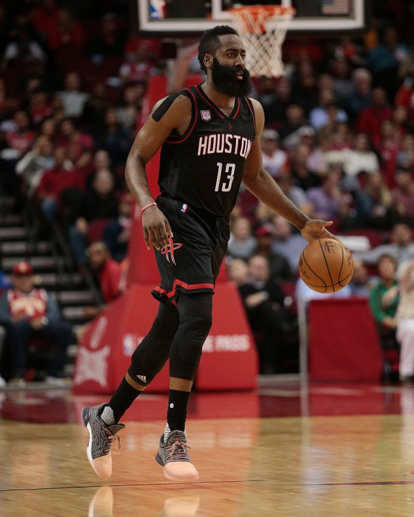James Harden Quadruple Team: NBA 2016-2017 Season: Milwaukee Bucks Vs Houston Rockets