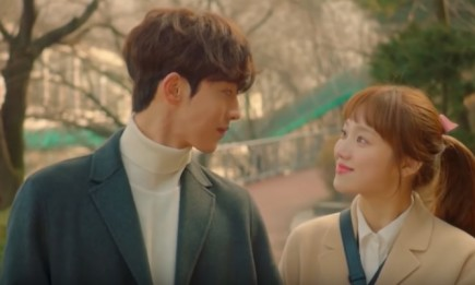 "Nam Joo Hyuk and Lee Sung Kyung in the final episode of ""Weightlifting Fairy Kim Bok Joo."""