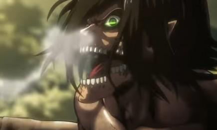 Eren in Titan form for 'Attack on Titan' season 2