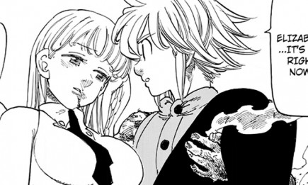 Melodias holds Elizabeth in 'The Seven Deadly Sins' chapter 207
