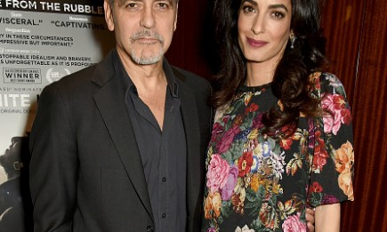 Hollywood power couple George and Amal Clooney during the Netflix special screening and reception of The White Helmets.