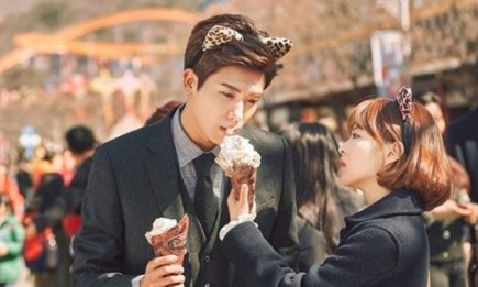 "Park Hyung Sik and Park Bo Young in the upcoming episode of ""Strong Woman Do Bong Soon."""