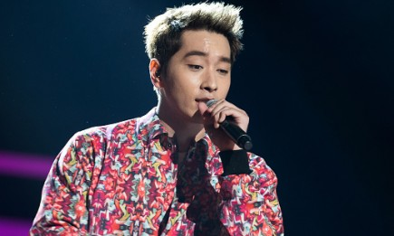 "2PM's Chansung performs at the K-Pop ""Go Crazy"" World Tour in New Jersey."