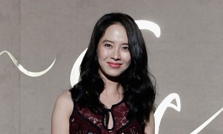 """Running Man"" host Song Ji Hyo attends the store opening event of Burberry Seoul Flagship."