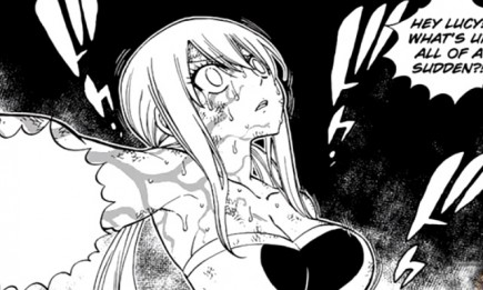 Lucy in trance in 'Fairy Tail' chapter 534