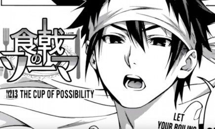 Soma presents his dish in the latest chapter of 'Shokugeki no Soma'