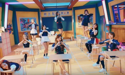 TWICE members in the music video of their latest single 'Signal'.