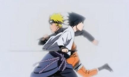 "Uzumaki Naruto and Uchiha Sasuke in the trailer for ""Naruto Shippuden the Movie: Bonds"""