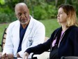 James Pickens Jr. as Richard Webber and Ellen Pompeo as Meredith Grey on Grey's Anatomy.