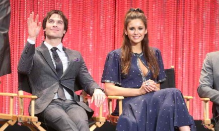 Ian Somerhalder and Nina Dobrev at The Paley Center for Media's PaleyFest 2014 speaks for 'The Vampire Diaries' and 'The Originals' on March 22, 2014.