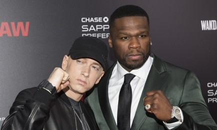 """Eminem and Curtis '50 Cent"""" Jackson attended the premiere of """"Southpaw"""" in New York."""